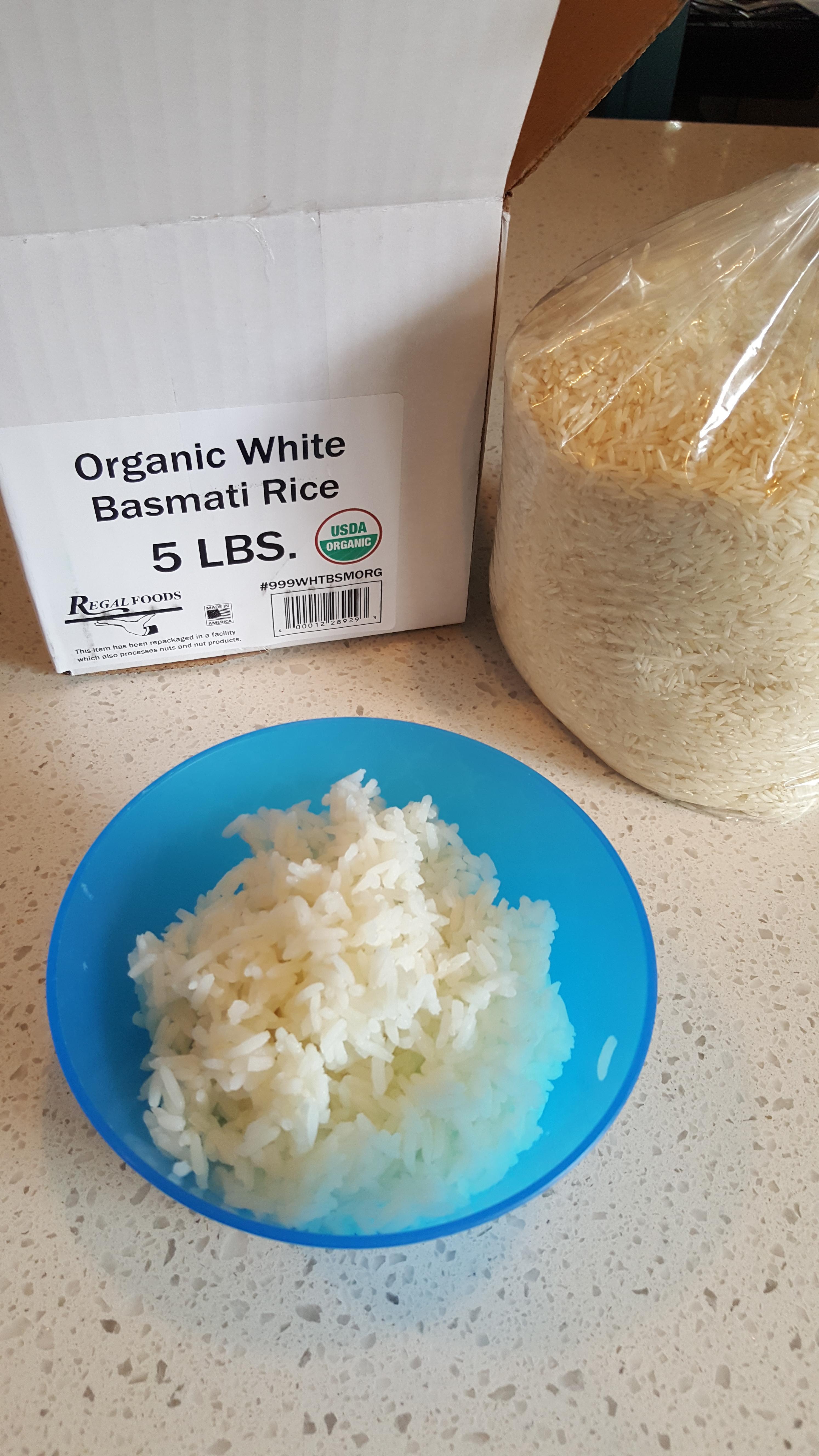 Organic White Basmati Rice - 25 lb