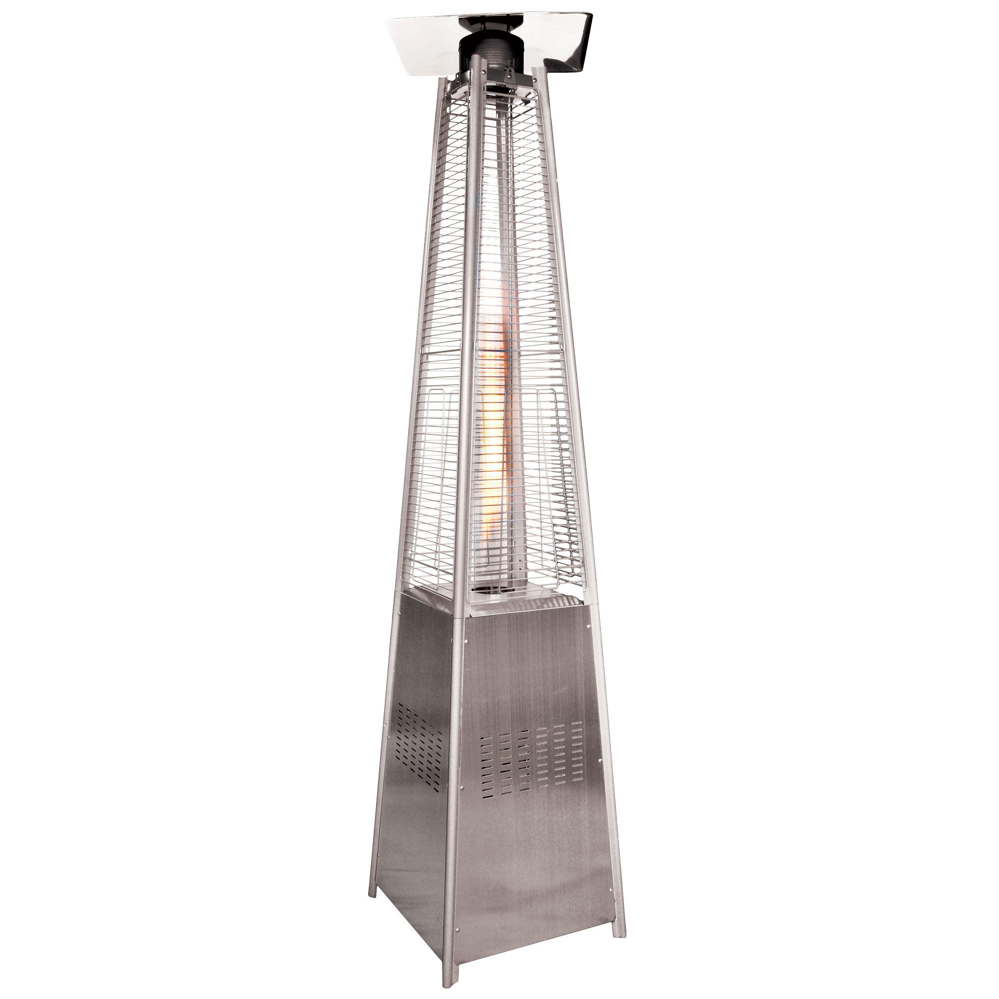 Pyramid-shaped quartz tube patio heater