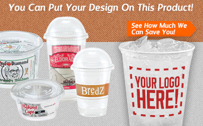 Customize and Personalize Green Disposable Plastic Drink Cups, Portion Cups, Deli Cups and Lids