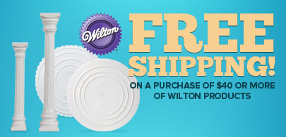 Free Shipping on a purchase of $40 or more of Wilton products