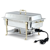 electric electric chafers are great for outdoor events as they are easier to use than chafing fuel in the event of windy or inclement weather - Chaffing Dish