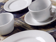 Rolled Edge dinnerware in action