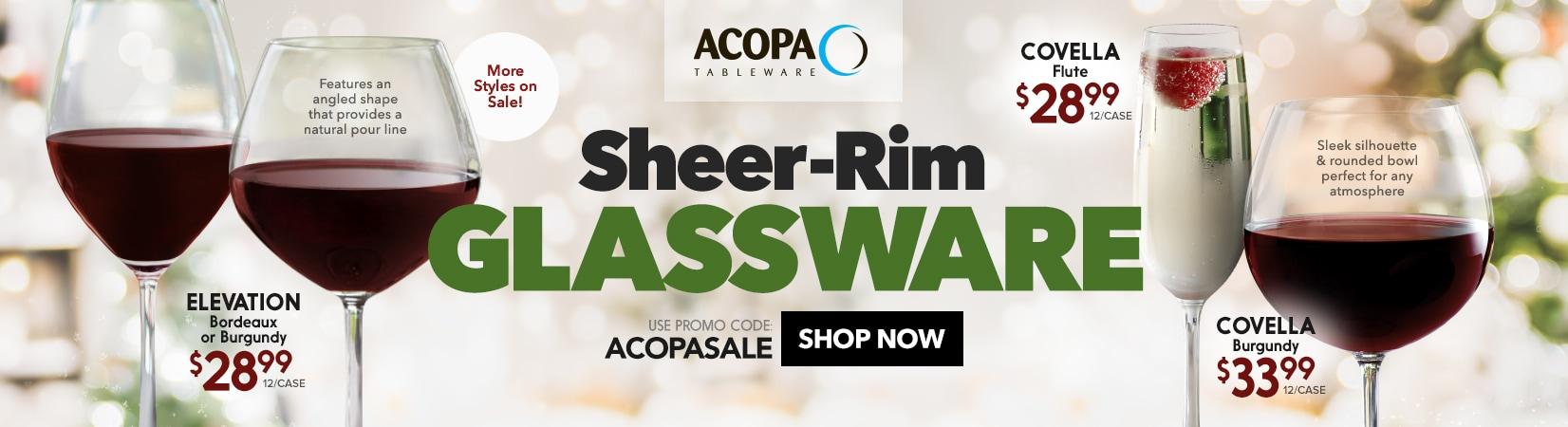 Acopa Sheer-Rim Glassware