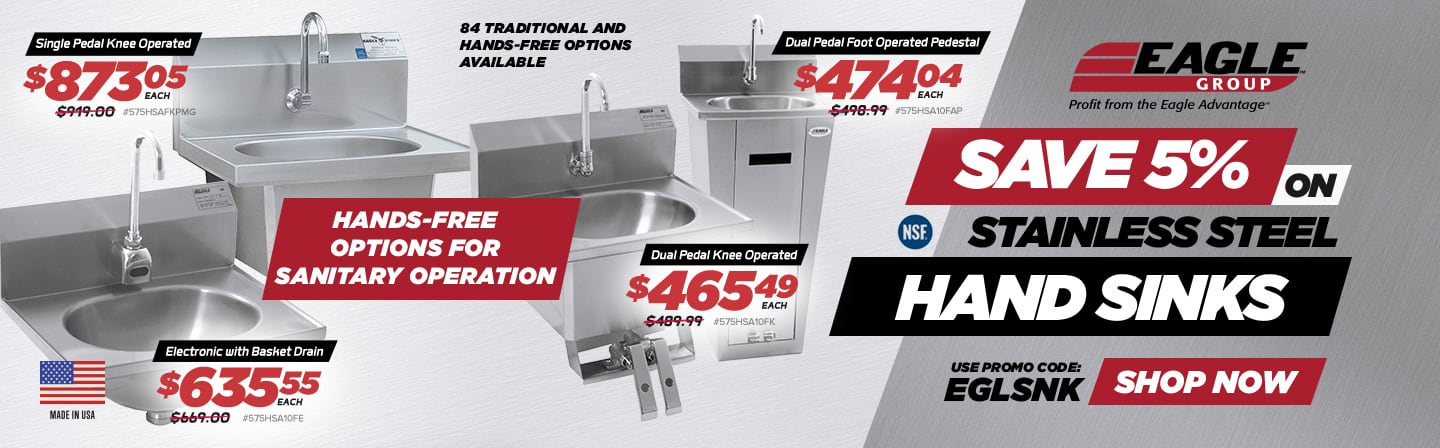 5% Off Eagle Group Hand Sinks