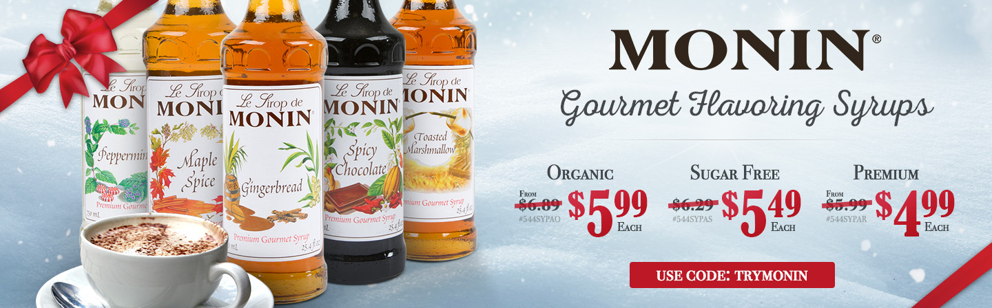 Low Prices on Monin Syrups