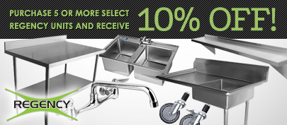 Purchase 5 or more select Regency units and receive 10% off!