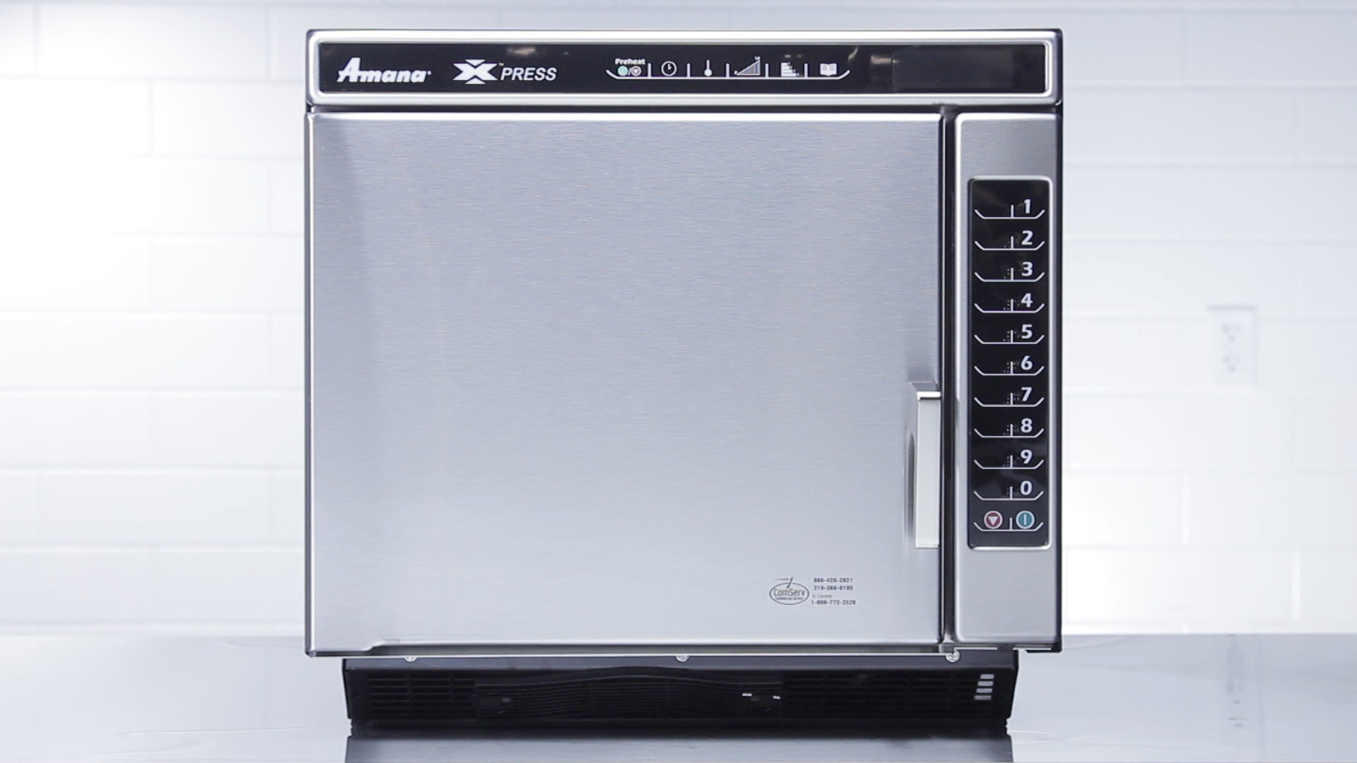 Amana Xpress Ace14n Jetwave High Sd Commercial Countertop Microwave Convection Oven Webstaurant Tv Video