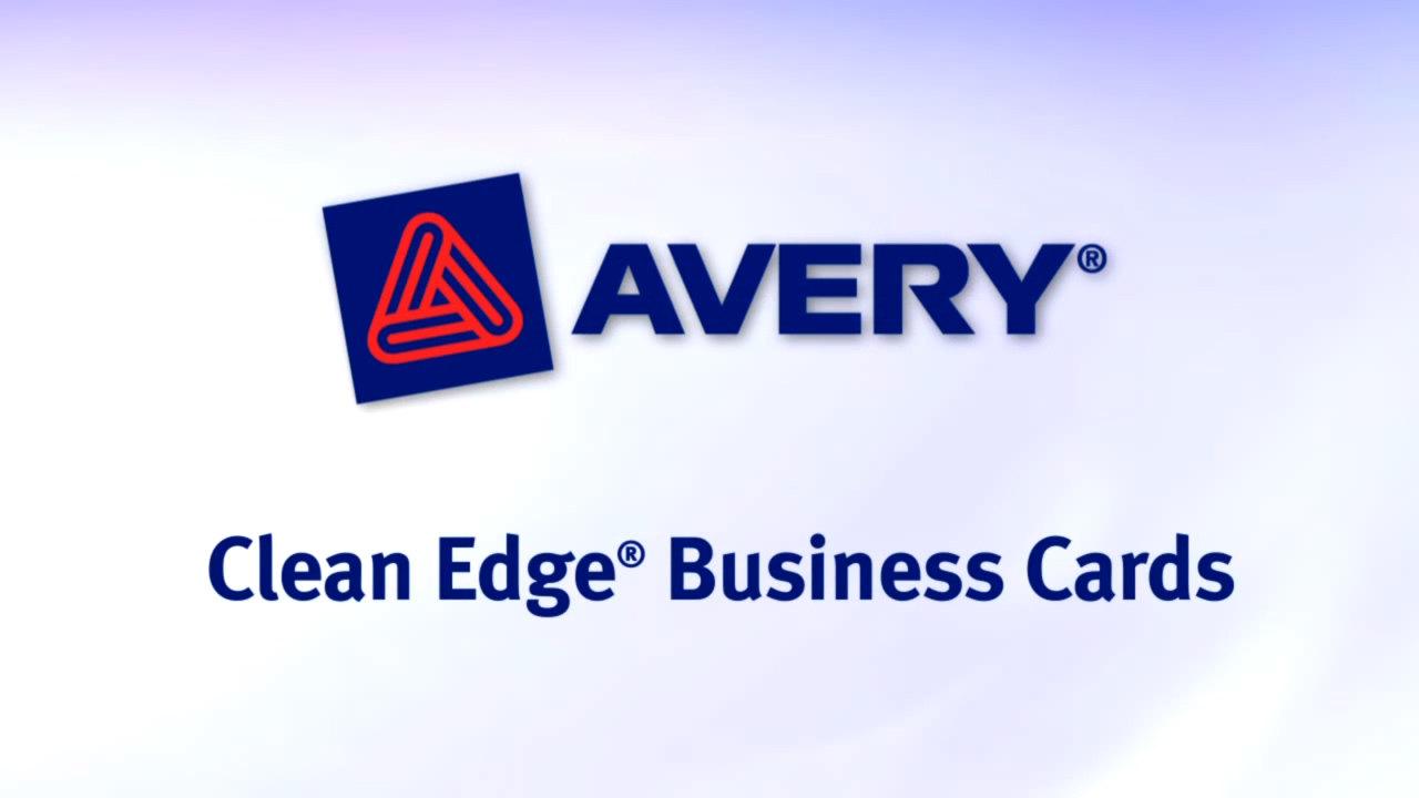 Avery Clean Edge Business Cards - WebstaurantStore TV Video