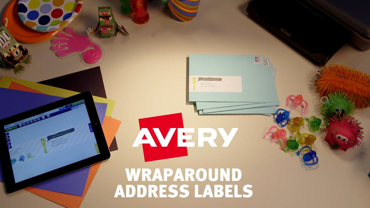 Avery Wraparound Address Labels Video