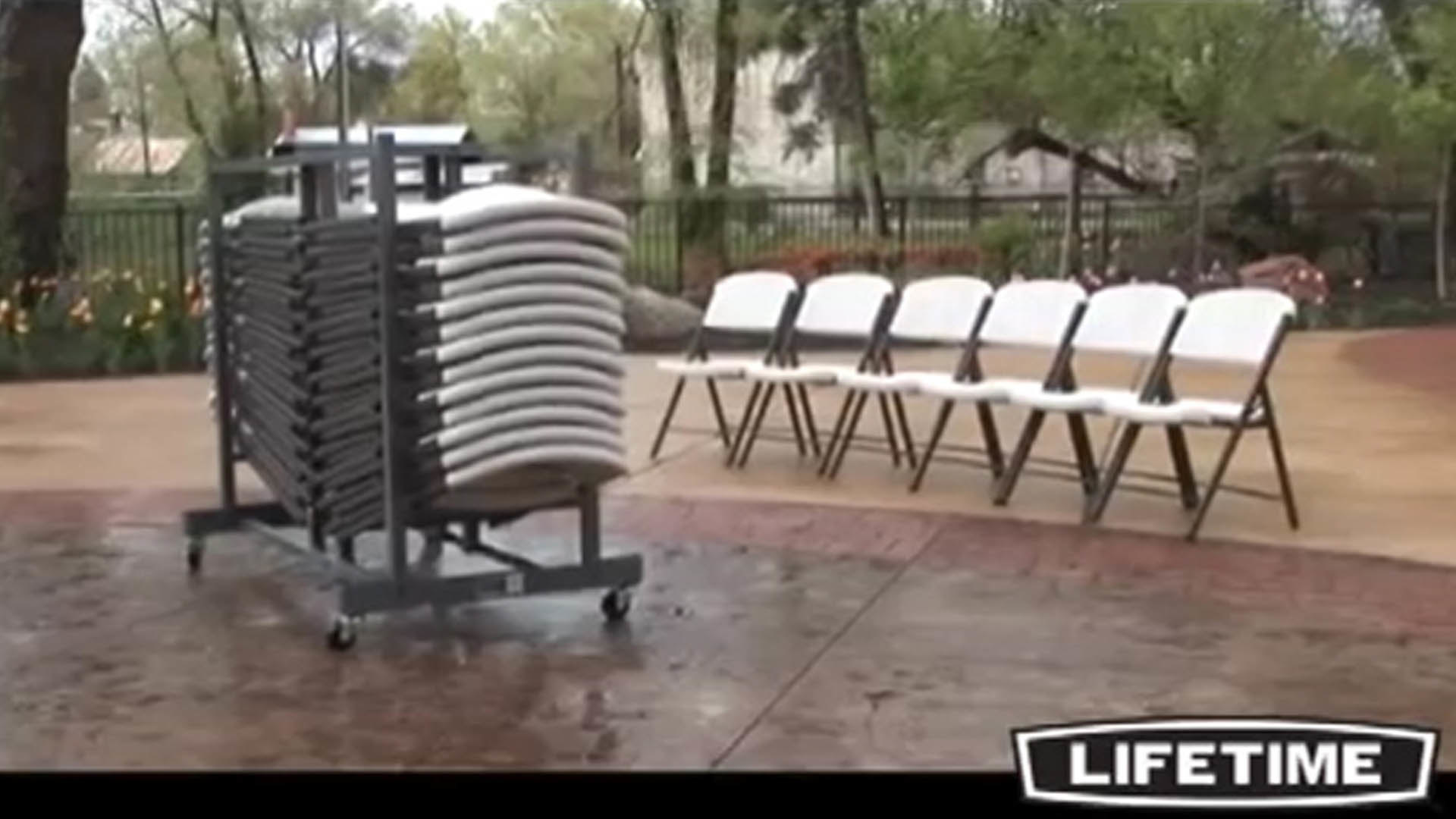 Lifetime Chair Cart WebstaurantStore TV Video
