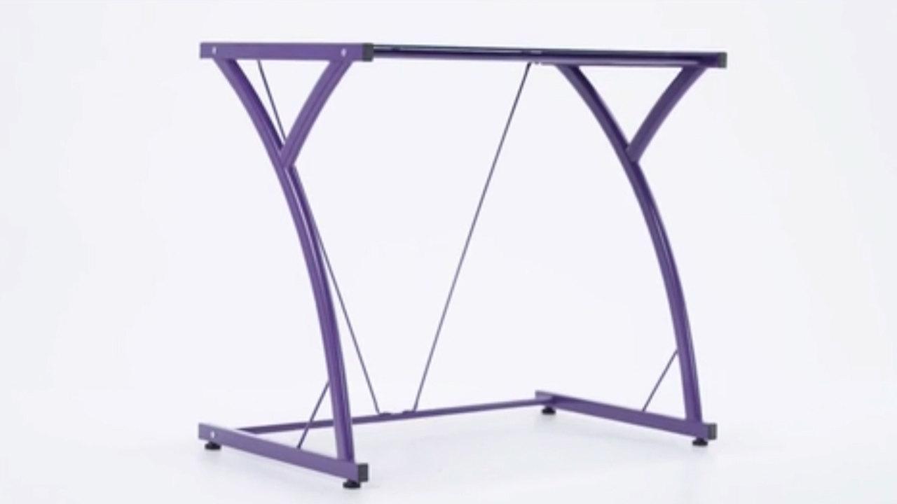 Flash Furniture Tempered Glass Computer Desk Video Webstaurantstore