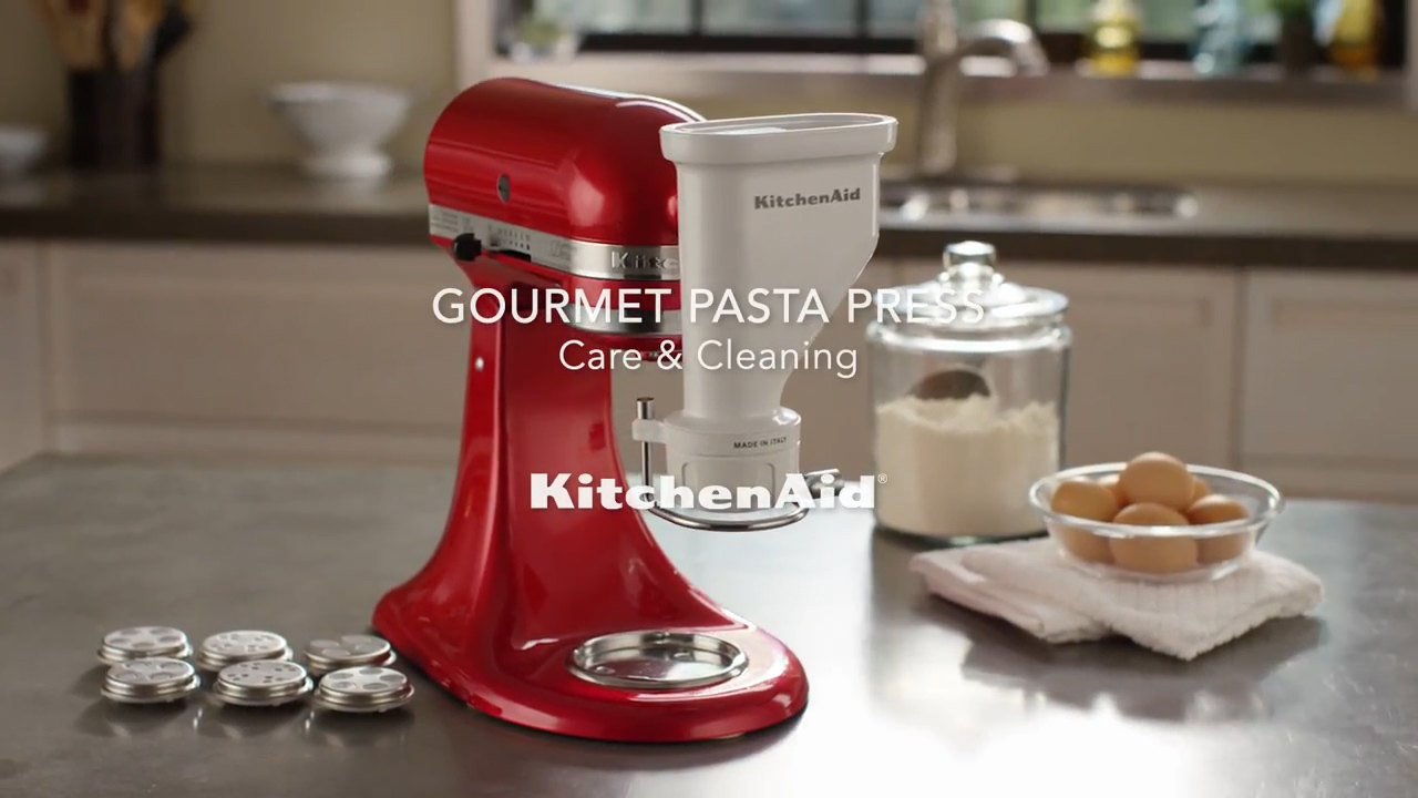 How To Clean A Kitchenaid Gourmet Pasta Attachment Video