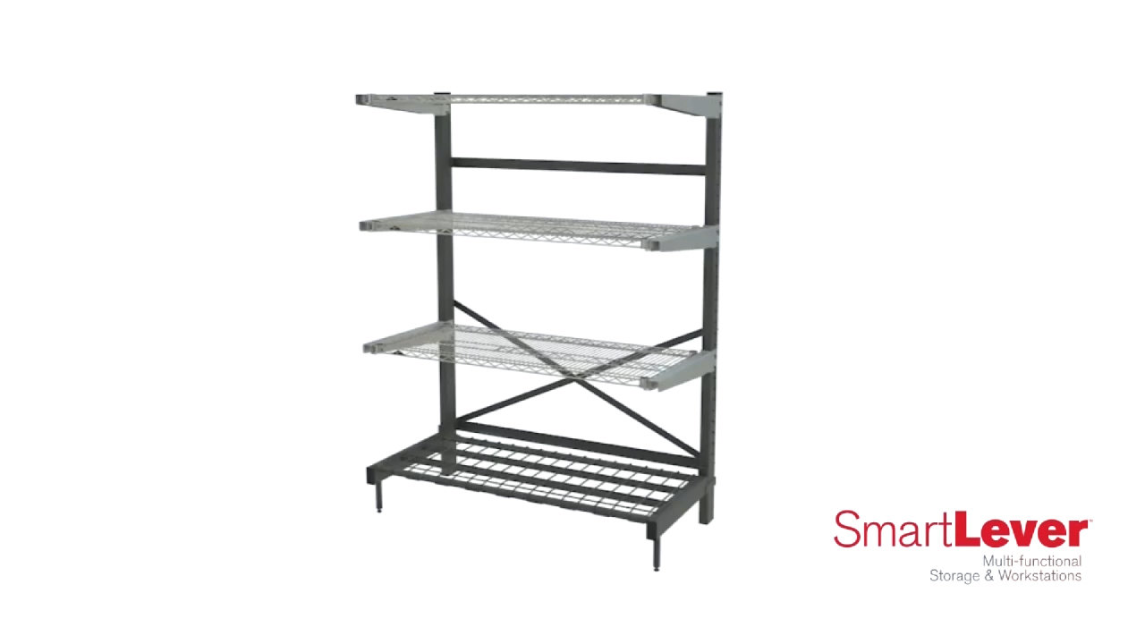 Metro SmartLever Shelving System - WebstaurantStore TV Video