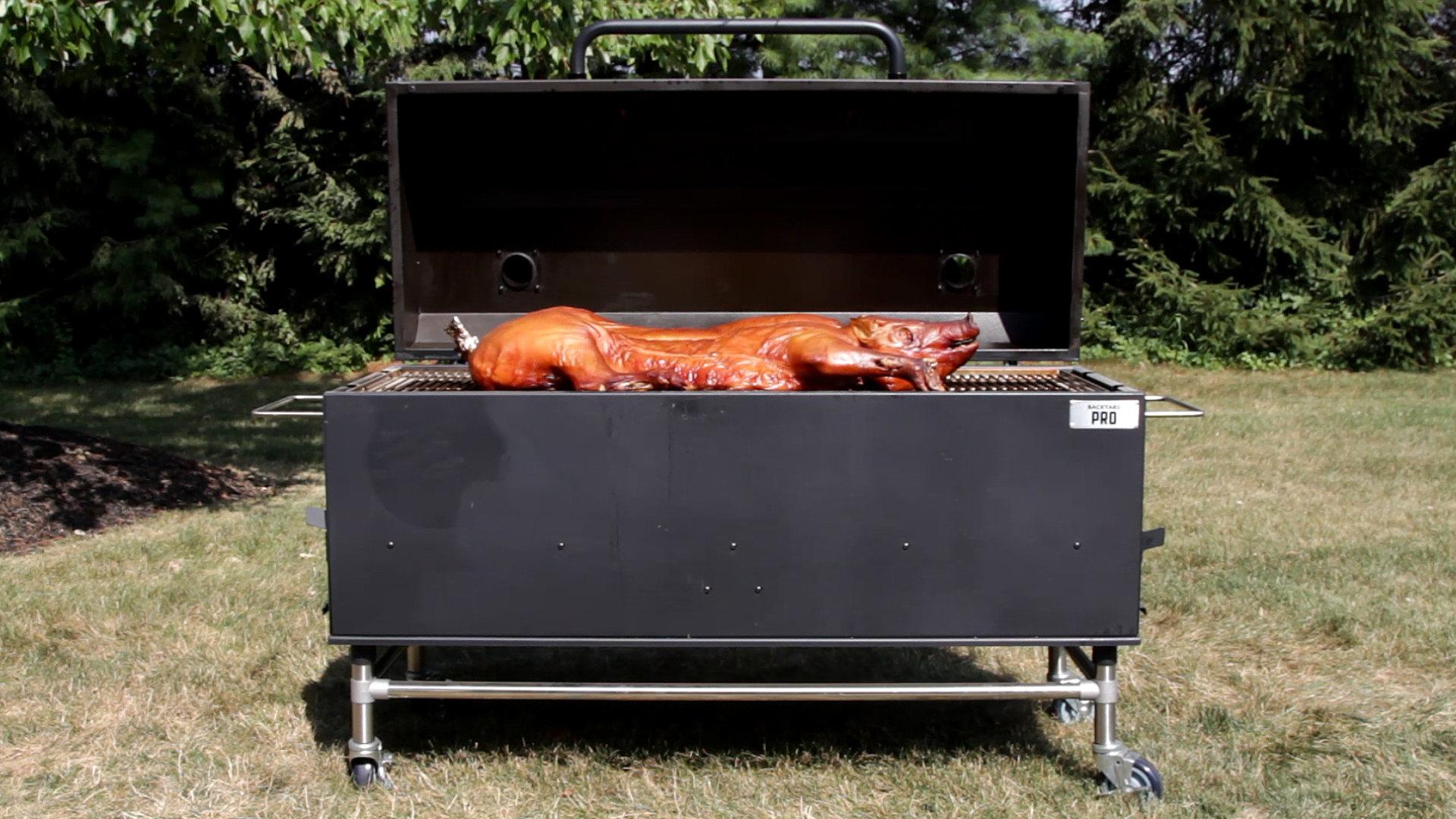 "backyard pro 60"" charcoal/wood smoker - webstaurantstore tv video"