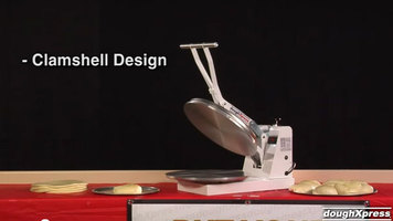 DoughXpress: DM-18 Manual Pizza Dough Press - 18-inch