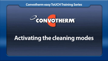 Cleveland Convotherm: Activating the Cleaning Modes