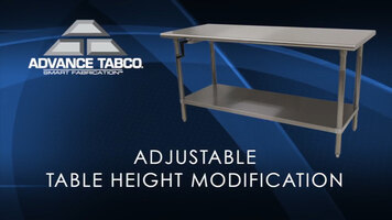 Advanced Tabco: Adjustable Table Height Modification