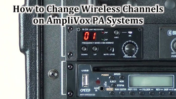 AmpliVox: Changing Wireless Channels on PA System