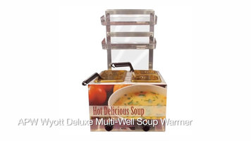 APW Wyott Multi-Well Soup Warmer