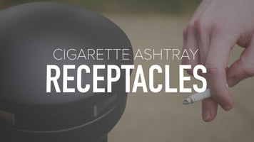 Cigarette Ashtray Receptacles