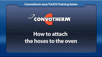Cleveland Convotherm: Attaching the Hoses