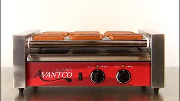 Avantco Hot Dog Roller Grill Demonstration
