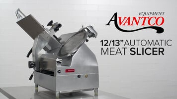"Avantco 12"" and 13"" Medium-Duty Automatic Meat Slicer"