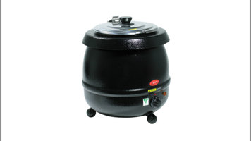 Keep your soup hot and fresh with an Avantco 11 qt. soup warmer