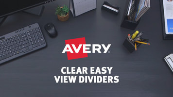 Avery Clear Easy View Dividers