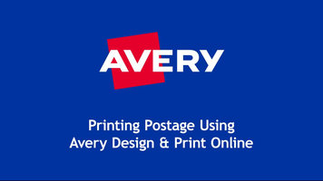 Avery: Design and Print Online