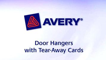 Avery Door Hangers with Tear-Away Cards