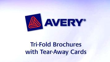 Avery: Tri-Fold Brochures with Tear-Away Cards