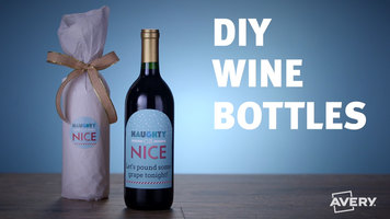 Avery: How to Make DIY Wine Bottles
