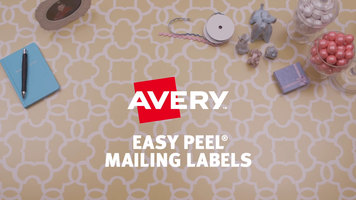 Avery 5630 1 X 2 58 Easy Peel Clear Mailing Address Labels 750pack