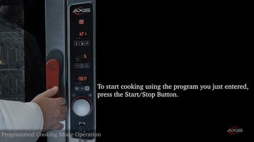 Axis Combi Oven: Programmed Cooking