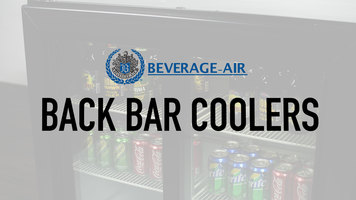 Beverage Air Back Bar Coolers