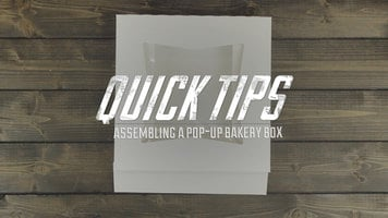How to Assemble a Pop-Up Bakery Box