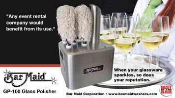Bar Maid GP-100 Glass Polisher