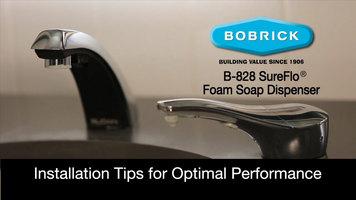 Bobrick B-828 SureFlo Installation
