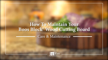 How To Maintain Your Boos Block Wood Cutting Board
