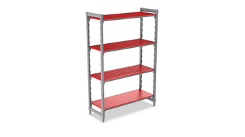 Cambro Camshelving®: Complete Assembly of Stationary Unit