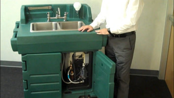 Features of the Cambro Hand Sink Cart