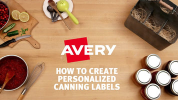 Avery Custom Canning Labels