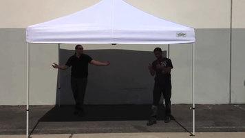 Caravan Canopy How to Assemble and Disassemble & Caravan Canopy 21003106011 Aluma 10u0027 x 10u0027 White Commercial Grade ...