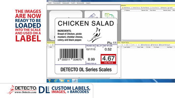 Cardinal Detecto DL Series Scales: Custom Labels