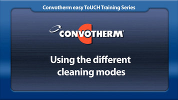 Cleveland Convotherm: Cleaning Modes