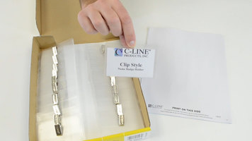 C-Line Products Clip Style Name Badge Holder Kit: 3 1/2