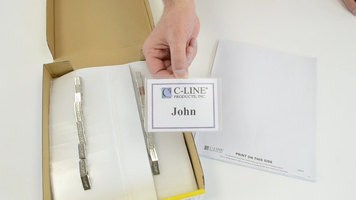 C-Line Products Clip Style Name Badge Holder Kit: 4