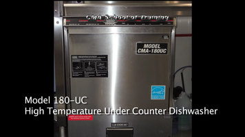 CMA 180UC Undercounter Dishwasher Installation Part 1
