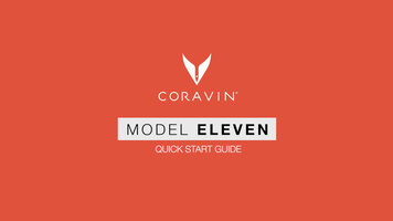 Getting Started with Coravin Model Eleven